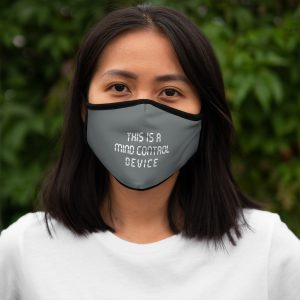 """""""This Is A Mind Control Device"""" Grey Fitted Mask"""