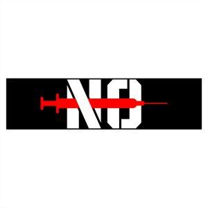 """""""No Jab"""" Bumper Stickers"""