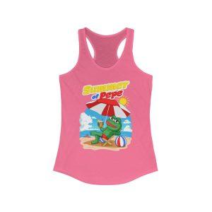 """Summer of Pepe"" Women's Racerback Tank Top"