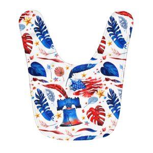 """""""Freedom & Liberty"""" Fleece Baby Bib"""