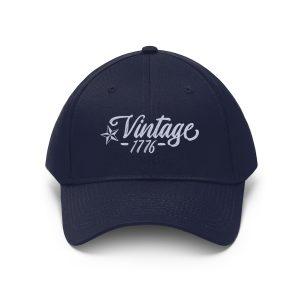 """Vintage 1776"" Unisex Embroidered Hat"