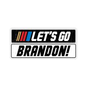 Let's Go Brandon NASCAR Kiss-Cut Stickers