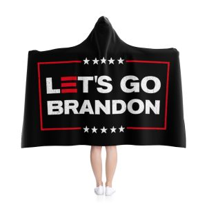 Let's Go Brandon Hooded Blanket