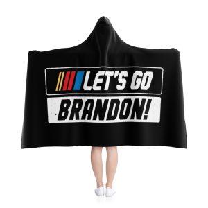 Let's Go Brandon NASCAR Hooded Blanket
